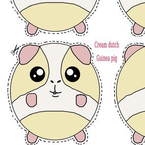 Cream dutch Guinea pig plush pillow