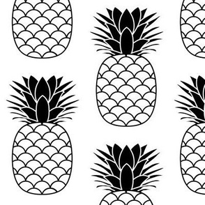 jumbo black and white pineapples