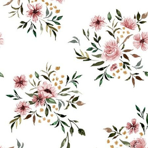 Emila Watercolor Floral V2 - White