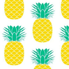 jumbo green and yellow pineapples