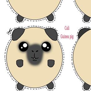 Californian guinea pig plush pillow cali