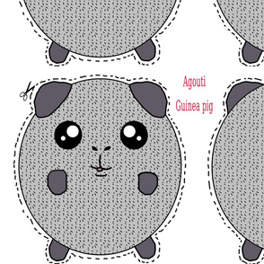 Agouti guinea pig plush pillow