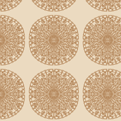Moroccan Tiles - Camel and Bronze