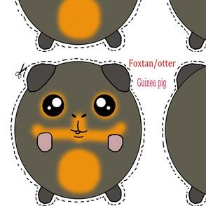 fox tan/otter guinea pig plush pillow