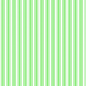 Trendy Large Lime Margarita Green French Mattress Ticking Double Stripes