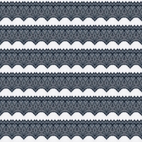 Gray Gothic Lace Trim