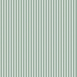 Classic Small Green Boot Pastel Green French Mattress Ticking Double Stripes