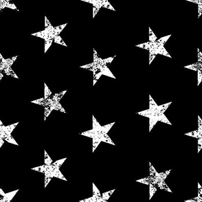 distressed stars on black