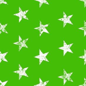 distressed white stars on green