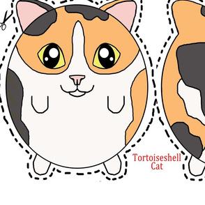 Tortoiseshell/Calico cat plush pillow