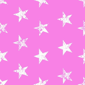 distressed white stars on pink