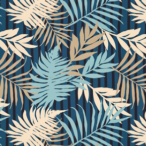 Urban Jungle Boho Palm Leaf Pattern