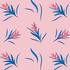 Heliconia Flower Blue&Pink