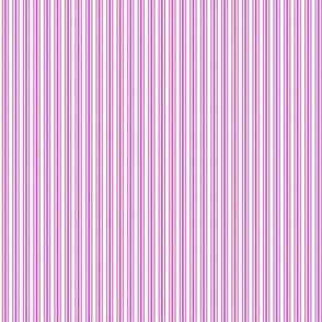 Classic Small Pink Fuchsia Pastel Pink French Mattress Ticking Double Stripes