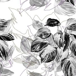 Light intelligent graphic botanical pattern