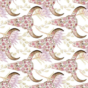 Floral Skull ~ Drapery Directional