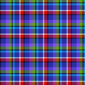 Plaid (blue) 5inch repeat