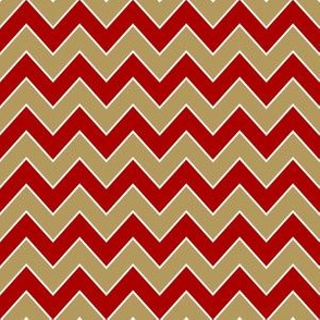 49ers chevron - gold and burgundy chevron, chevron sports, sports fabric, football fabric