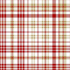 49ers plaid - burgundy and gold check, tartan, plaid, football,