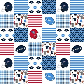 "titans quilt fabric - american football fabric, football fabric, 3"" squares, cheater quilt, nursery baby fabric, tennessee"