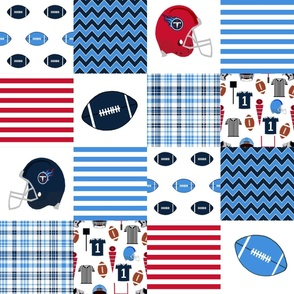 "titans quilt fabric - american football fabric, football fabric, 6"" squares, cheater quilt, nursery baby fabric, tennessee"