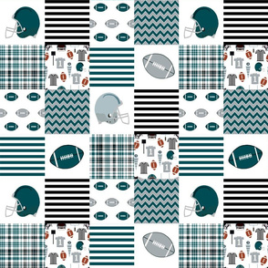 "eagles quilt fabric 3"" squares - american football, football fan, sports, sports teams - eagles"