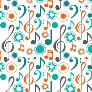 Treble Bass Notes in Teal and Orange