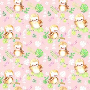 coral pink aloha baby owl