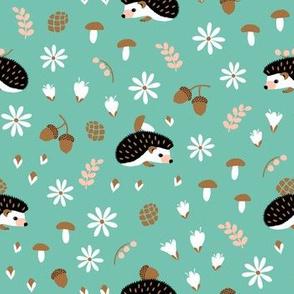 Hedgehogs on mint