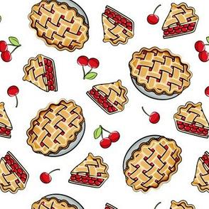 Sweet Cherry Pie - white - cherries - pie - foodie - LAD19