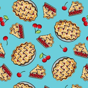Sweet Cherry Pie - blue - cherries - pie - foodie - LAD19