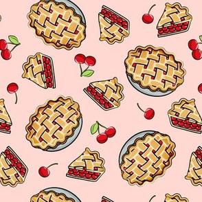 Sweet Cherry Pie - Pink - cherries - pie - foodie - LAD19