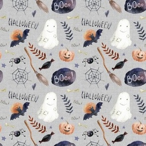 "4"" Halloween Night // Gray Linen"