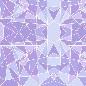 Purple Geometric Wall Small
