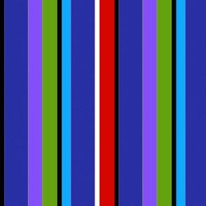 Resort Stripe Floral  Fantasy (Resort Stripe (Multicolor on Blue) 10inch repeat
