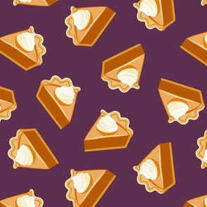 Pumpkin Pie Slice - fall dessert - thanksgiving - plum - LAD19