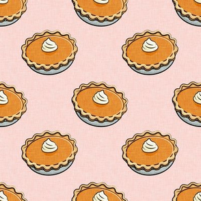 Pumpkin Pies - Fall thanksgiving food - pie lover - pink - LAD19