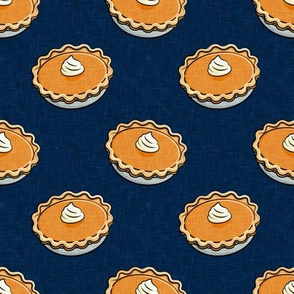 Pumpkin Pies - Fall thanksgiving food - pie lover - navy - LAD19