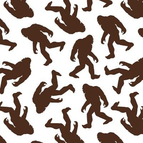 Bigfoot Silhouettes Brown Small