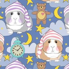 bedtime girl guinea pigs