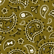 Retro Dog Paisley - Green
