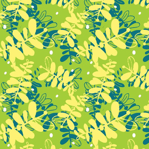 Yellow and Teal Forest-01
