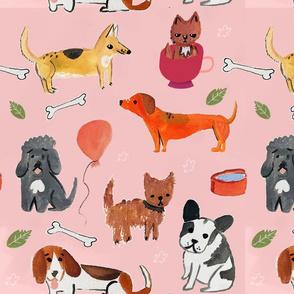 dog party pattern