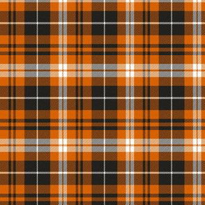(small scale) pumpkin spice plaid || soft black C19BS