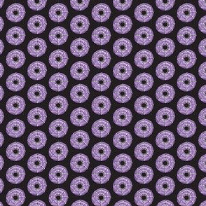 (micro scale) spider web donuts - halloween doughnuts black - LAD19BS