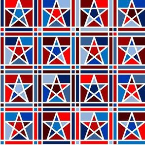 Mosaic Stars Red, White & Blue