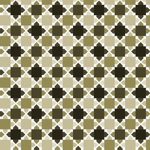 Two Tone Tiles Taupe SML