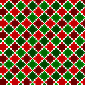 Two Tone Tiles Red @ Green SML