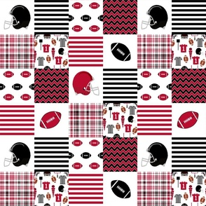 """georgia quilt - 3"""" squares, college football, school spirit, patchwork, cheater quilt"""