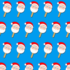 santa bubblegum ice cream on blue